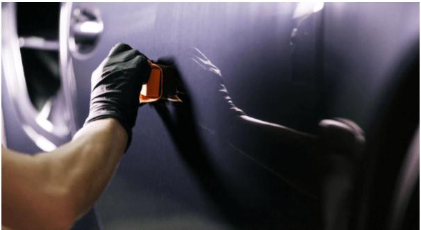 micro pintura automotiva carro preto