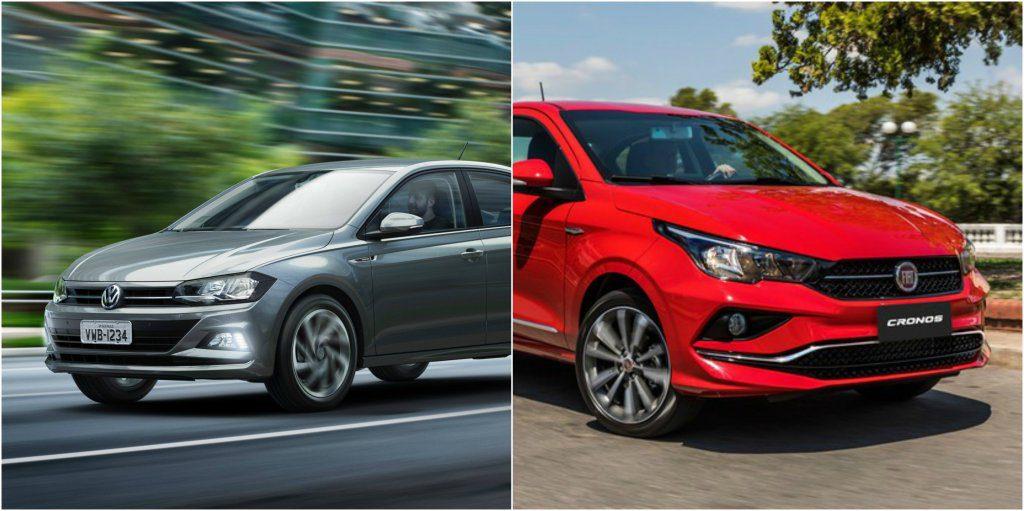 aed8d0c78 Cronos da Fiat x Virtus da Volkswagen: vantagens e desvantagens