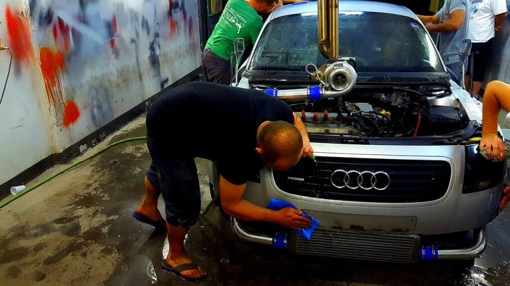 lavagem de motor