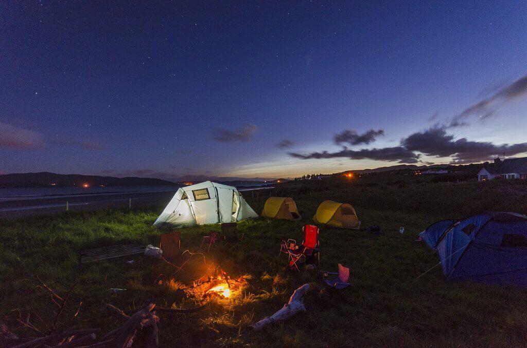 acampamento de férias
