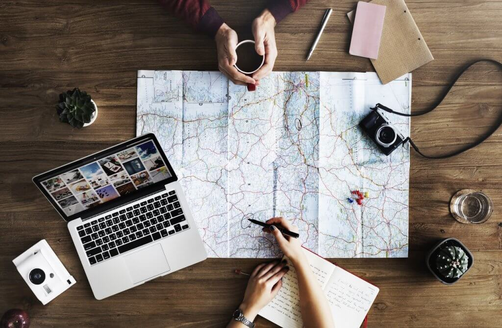 plano de viagem - Faça uma lista de todos os lugares que pretende visitar