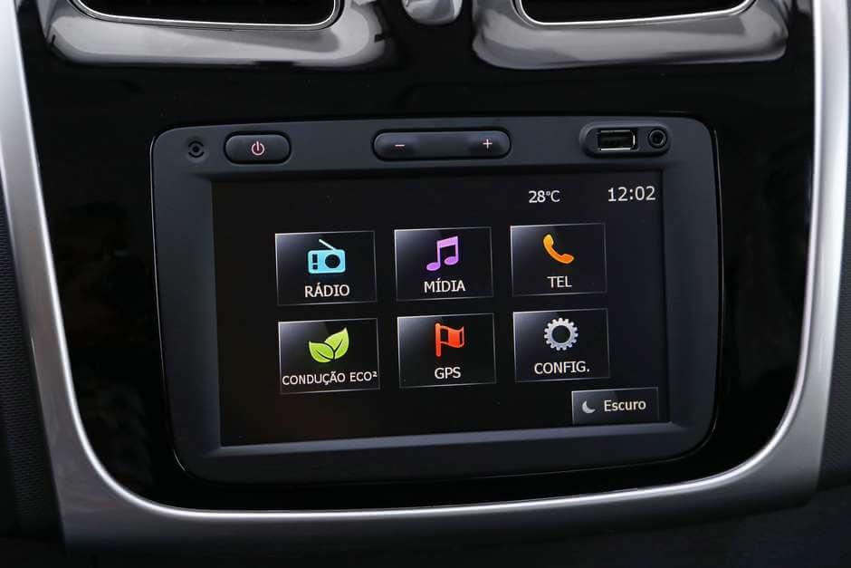 central multimídia - Renault Sandero