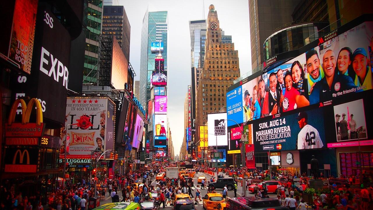 pontos turísticos de Nova York - Times Square e Broadway